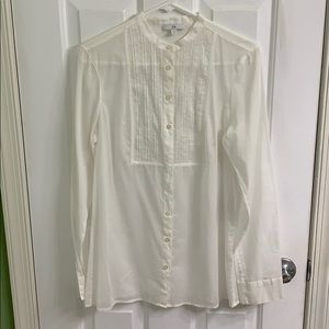 Ivory colored long sleeve blouse from the Gap